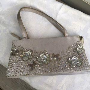 Handbags - Sequined bag in silver/gray, zip top, lined